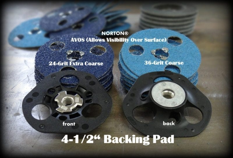AVOS ABRASIVE DISC AND BACKING PAD