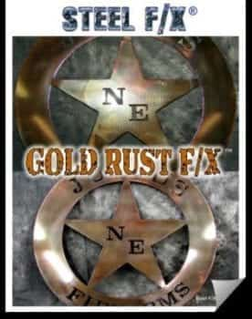 gold rust steel patina