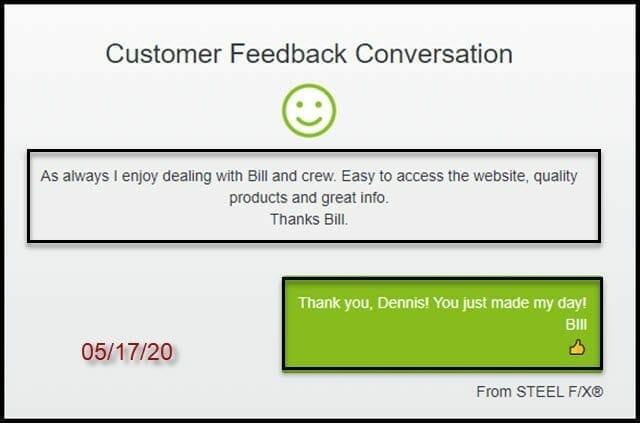 customer review and feedback