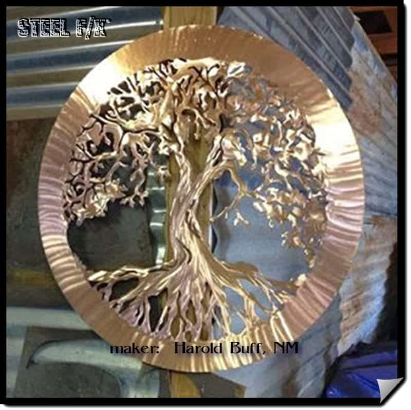 copper-plating-patina on steel