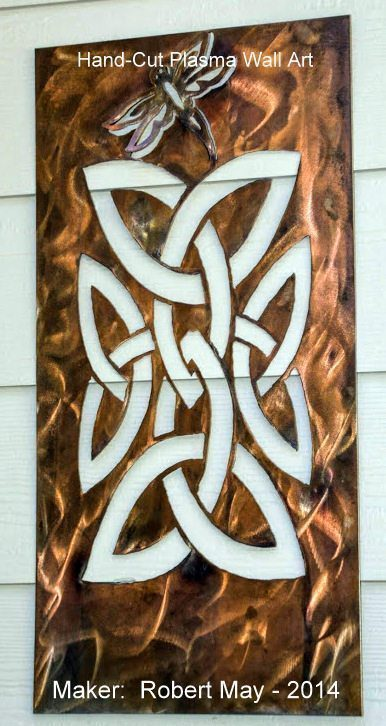 hand cut steel _copper patina plated