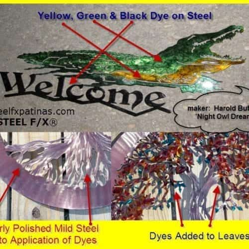 dyes for steel - brushable