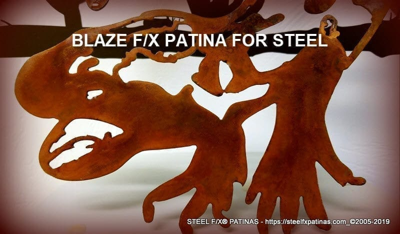 RED PATINA FOR STEEL