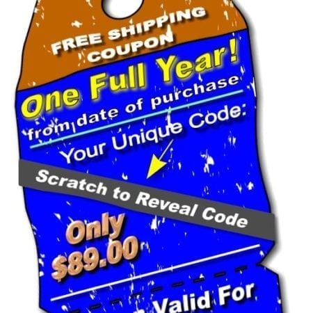 FREE SHIPPING FOR ONE YEAR!