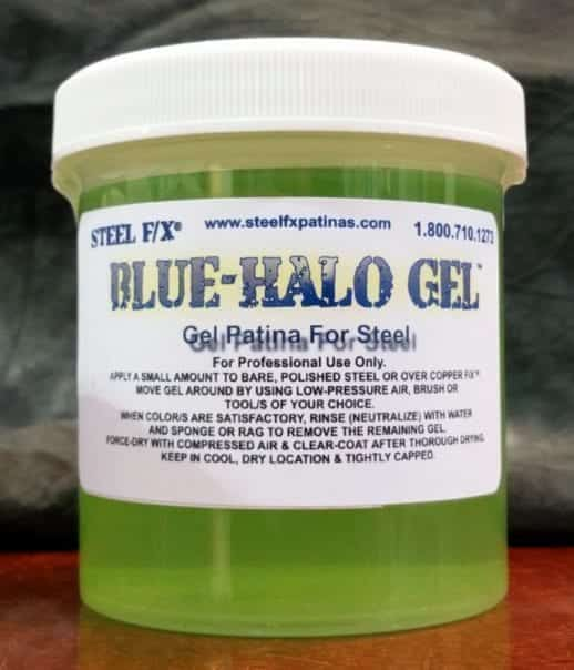 Color Case-Hardening Effect on Steel or Iron using BLUE HALO™ Gel Patina