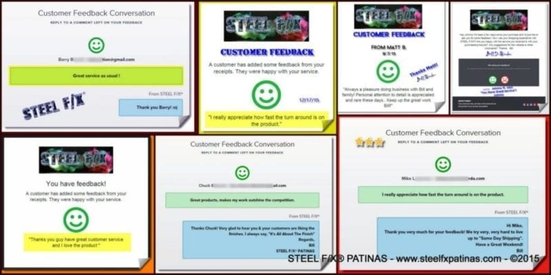 CUSTOMER REVIEWS and COMMENTS_STEEL F/X® PATINAS