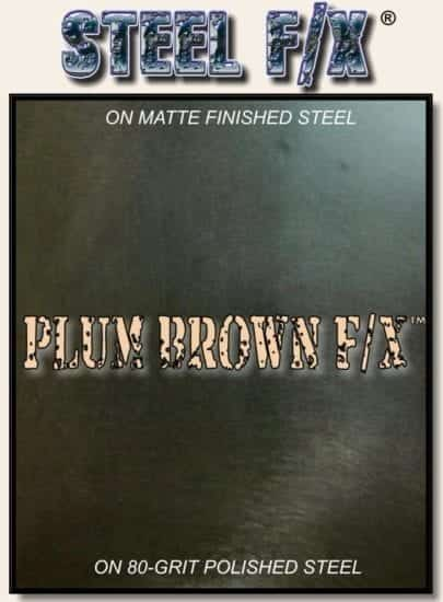 BROWN-MAUVE STEEL PATINA