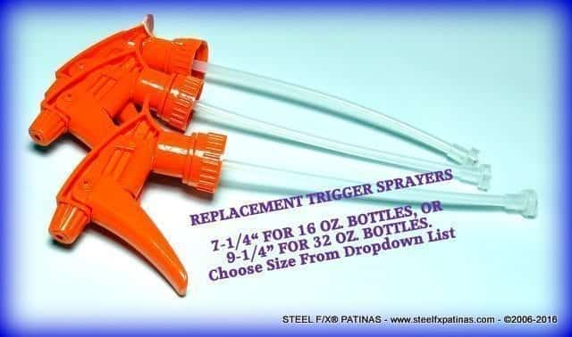 HIGH QUALITY TRIGGER SPRAYERS-REPLACEMENTS_STEEL F/X® PATINAS