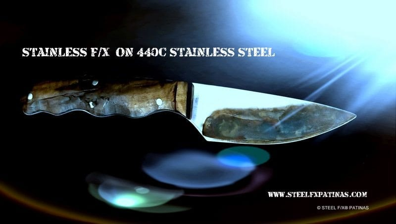 stainless steel patina, color case hardening on stainless