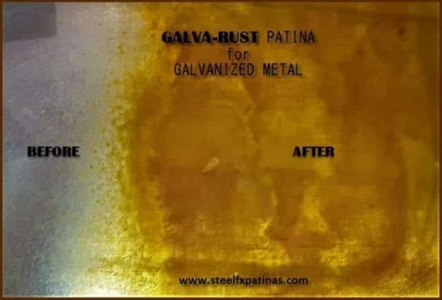 rusting patina for galvanized