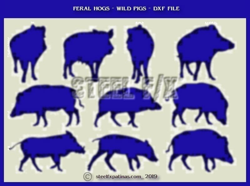 WILD PIGS_FERAL HOGS_DXF FILE