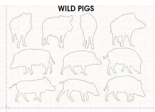 WILD PIGS FREE DXF FILE