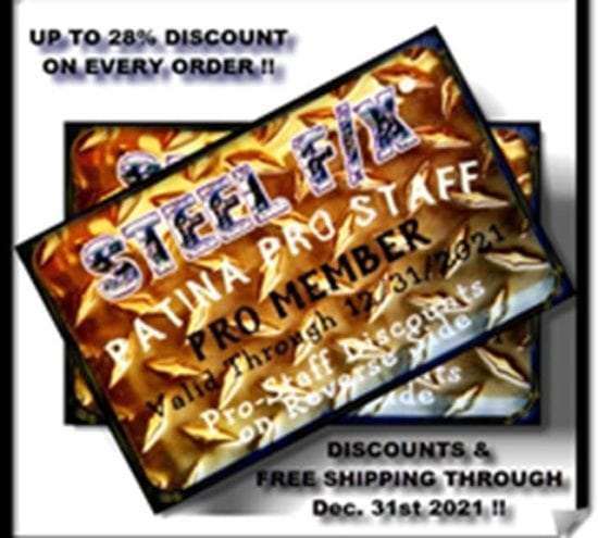 STEEL F/X PATINAS_PRO-STAFF DISCOUNT CARD