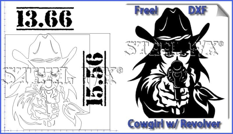 FREE DXF FILE-COWGIRL
